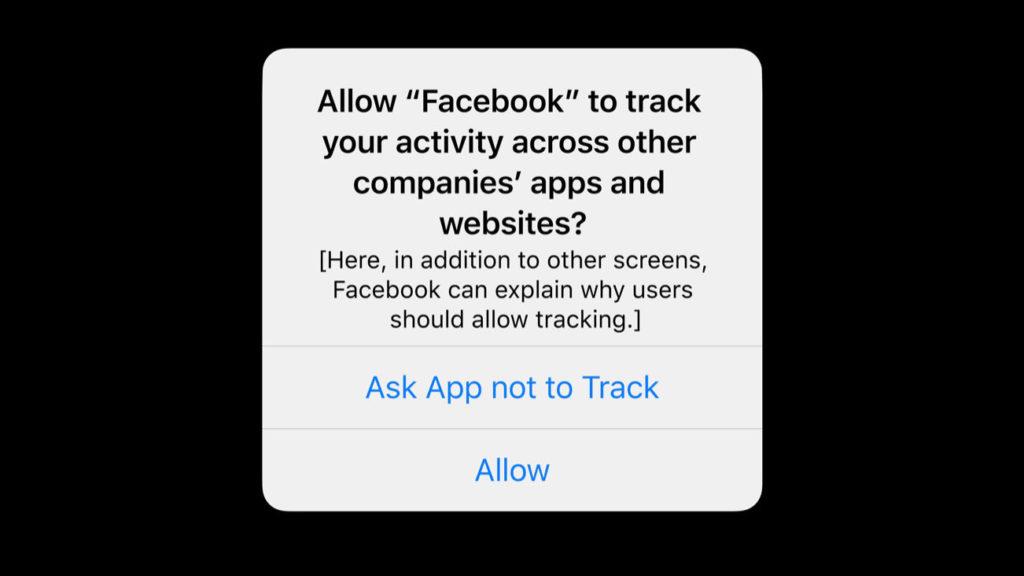 Apple ios14 permission opt in