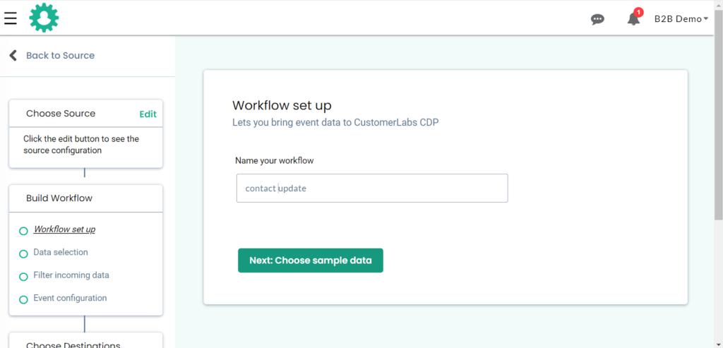 CDP - Sample data