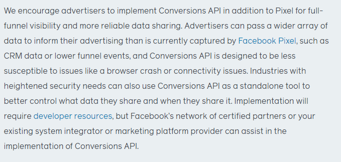 Facebook - Implementation on of Facebook API Conversion
