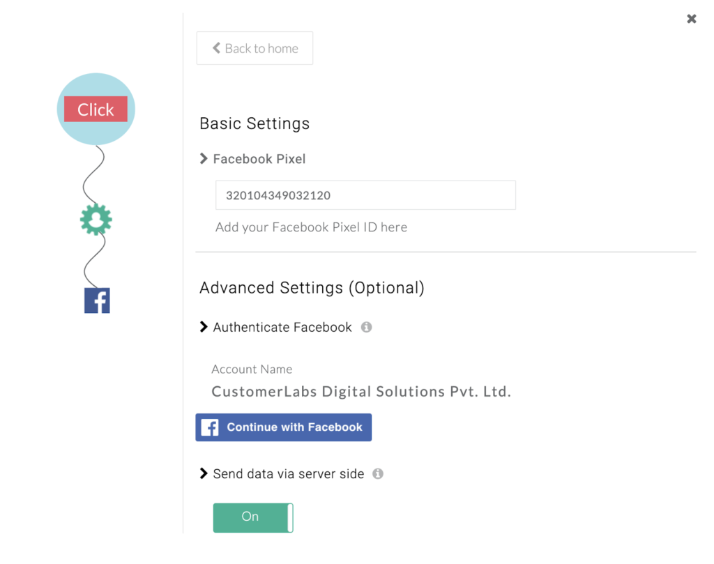 CustomerLabs - FB Authentication