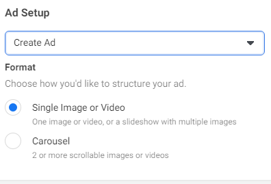 Facebook Ad set up