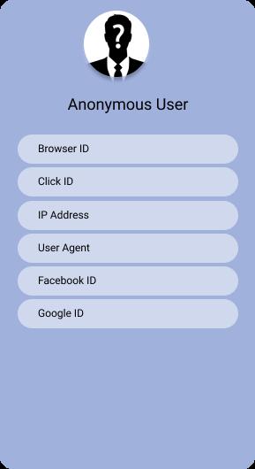 Anonymous User data