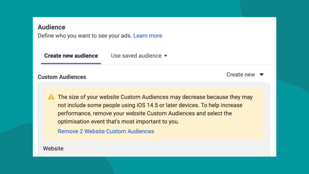 Facebook audience manager